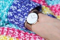 Obaku Denmark V230LXVWMV Slim PAPIR LILLE - ROSE zegarek damski klasyczny szafirowe