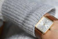 Rosefield QSCG-Q029 Boxy Boxy fashion/modowy zegarek złoty