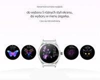 Zegarek Rubicon Smartwatch Rubicon RNBE37 srebrny - damski