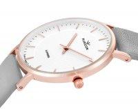 Rubicon RNAD75RISX03B1 zegarek różowe złoto klasyczny Pasek pasek