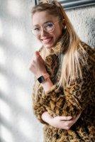 Garett 5903246286373 Damskie Smartwatch Garett Lady Viki złoty zegarek damski sportowy z tworzywa sztucznego