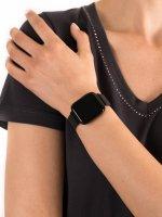 zegarek Garett 5903246287141 Smartwatch Garett Women Eva RT czarny stalowy damski z krokomierz Damskie
