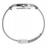 Timex TW2U67000 zegarek srebrny klasyczny Crystal bransoleta