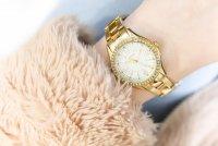 Timex TW2P80100 zegarek złoty klasyczny Fashion bransoleta