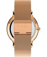 Timex TW2T73900 zegarek różowe złoto klasyczny Transcend bransoleta