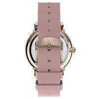 Timex TW2T74300 zegarek różowe złoto klasyczny Transcend pasek
