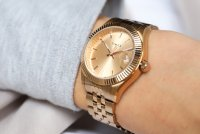 Timex TW2T86800 The Waterbury Waterbury klasyczny zegarek różowe złoto