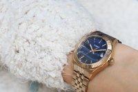 Timex TW2T87300 zegarek różowe złoto klasyczny Waterbury bransoleta