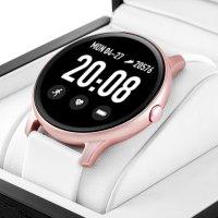 Rubicon RNCE40RIWX01AX zegarek różowe złoto sportowy Smartwatch pasek