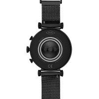 zegarek Fossil Smartwatch FTW6055SET Gen 4 Smartwatch Sloan HR Black Stainless Steel Mesh damski z termometr Fossil Q