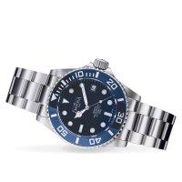 Davosa 161.559.40 zegarek srebrny klasyczny Diving bransoleta