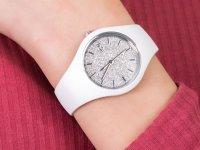 Zegarek dla dzieci fashion/modowy ICE Watch Ice-Glitter ICE.001344 ICE glitter white silver rozm. S szkło mineralne - duże 6
