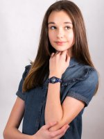 Zegarek dla dzieci klasyczny Timex Dla dzieci TW2R41800  Timex x Peanuts Snoopy  Outer Space szkło akrylowe - duże 4