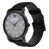 Emporio Armani AR11274 zegarek czarny klasyczny Mens pasek