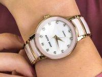 Zegarek fashion/modowy Anne Klein Bransoleta AK-2672LPGB - duże 6