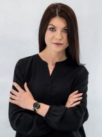 Anne Klein AK-3160BKGB zegarek damski Bransoleta