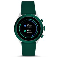 Fossil Smartwatch FTW4035 zegarek zielony sportowy Fossil Q pasek