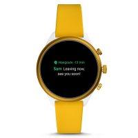 Fossil Smartwatch FTW6053 zegarek żółty sportowy Fossil Q pasek