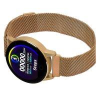 zegarek Garett 5903246282306 kwarcowy damski Damskie Smartwatch Garett Lady Bella złoty stalowy