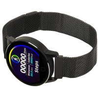 zegarek Garett 5903246286359 kwarcowy damski Damskie Smartwatch Garett Lady Bella czarny stalowy