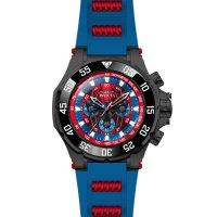 Invicta 25689 zegarek czarny sportowy Marvel pasek