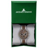 zegarek Jacques Lemans 1-2115J męski z chronograf Eco Power