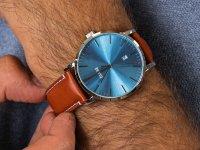 Cluse CW0101501005 Aravis leather silver blue/light brown zegarek klasyczny Aravis