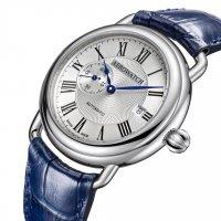 Aerowatch 77983-AA01 zegarek srebrny klasyczny 1942 pasek