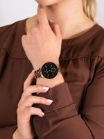 Anne Klein AK-3484BKRG damski zegarek Bransoleta bransoleta