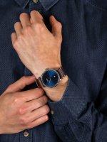 Zegarek klasyczny Cluse Aravis CW0101501008 Aravis nato leather silver dark blue/dark brown - duże 5