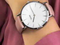 Cluse CL18214 White Dial Ladies Pink Leather zegarek klasyczny La Boheme