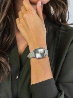Zegarek klasyczny Cluse La Tetragone CL60018 Silver/Soft Grey Alligator Jungle - duże 5
