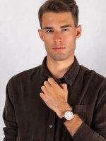 Zegarek klasyczny Seiko Solar SNE530P1 Solar Classic Sapphire Day-Date 100m - duże 4
