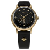 Timex TW2U54600 zegarek różowe złoto klasyczny Celestial Automatic pasek