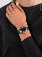 zegarek Garett 5903246287172 Smartwatch Garett Women Nicole RT srebrny damski z krokomierz Damskie
