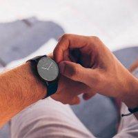 Meller 1G-1BROWN zegarek czarny klasyczny Astar pasek