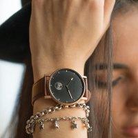 Meller 2R-1CHOCO zegarek różowe złoto klasyczny Maori pasek