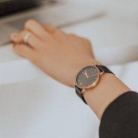 Meller W3R-2BLACK zegarek różowe złoto klasyczny Denka bransoleta