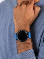 zegarek Garett 5903246287028 Smartwatch Garett Multi 4 Sport RT niebieski męski z barometr Męskie