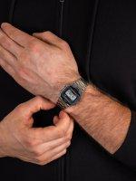 Casio Vintage A163WA-1QES męski zegarek VINTAGE Maxi bransoleta