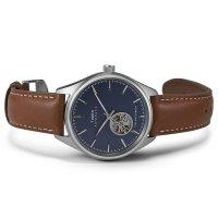 Timex TW2U37700 zegarek srebrny klasyczny Waterbury pasek