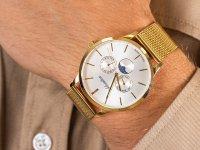 Adriatica A1274.1113QF Moonphase zegarek klasyczny Bransoleta