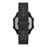 Armani Exchange AX2952 zegarek czarny sportowy Fashion bransoleta