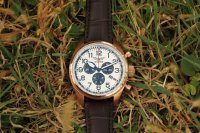 Aviator V.2.25.2.173.4 zegarek różowe złoto klasyczny Airacobra pasek