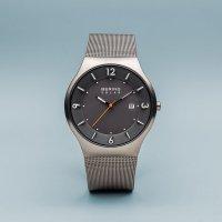 Bering 14440-077 zegarek srebrny klasyczny Solar bransoleta
