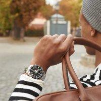 Edifice EFV-C100D-1AVEF SPORTY LCD CHRONOGRAPH EDIFICE Momentum sportowy zegarek srebrny