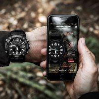 smartwatch G-Shock GG-B100-1BER kwarcowy męski G-SHOCK Master of G Mudmaster Carbon Core Black Out
