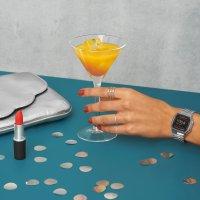 Casio Vintage A158WEA-1EF zegarek srebrny fashion/modowy VINTAGE Maxi bransoleta