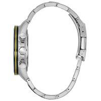 Citizen AT8020-54L zegarek srebrny sportowy Radio Controlled bransoleta