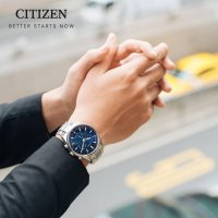 Citizen CB5020-87L zegarek srebrny sportowy Radio Controlled bransoleta